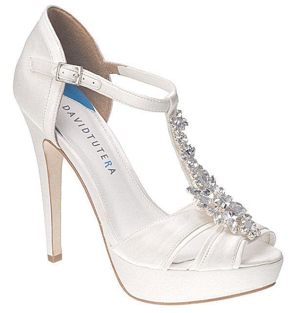 White David Tutera Jewel Bridal Shoes 22500 The David Tutera Jewel Bridal Shoes Are A Work Of