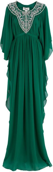 Temperley London Beaded Kaftan in Green @Abigail Skye This Is Perfect For You!