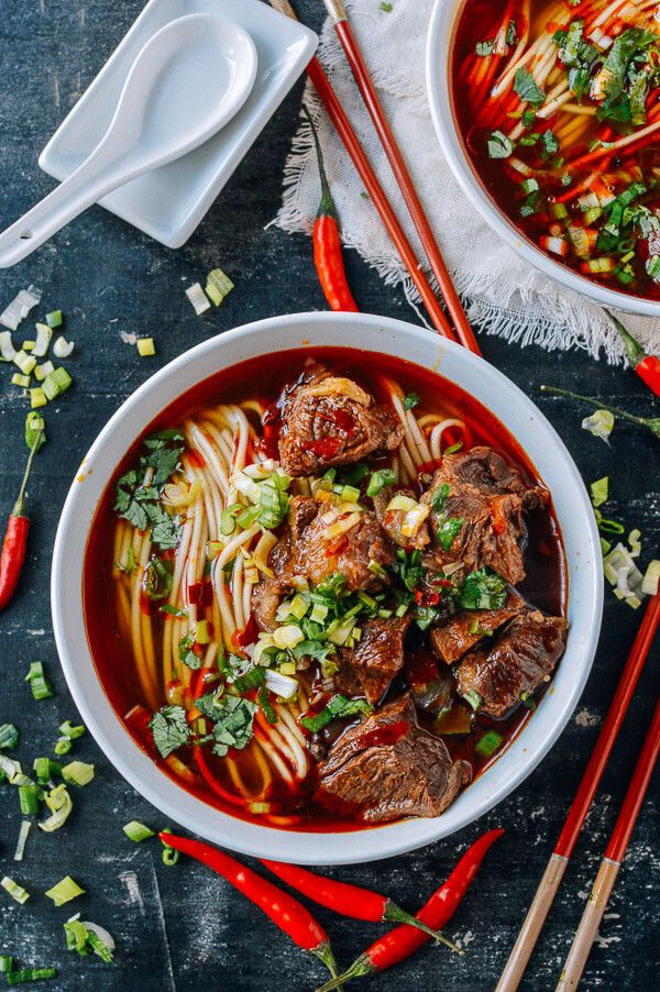 Spicy Beef Noodle Soup | from The Woks Of Life Blog (and quite possibly one of the sexiest pictures of its kind!)