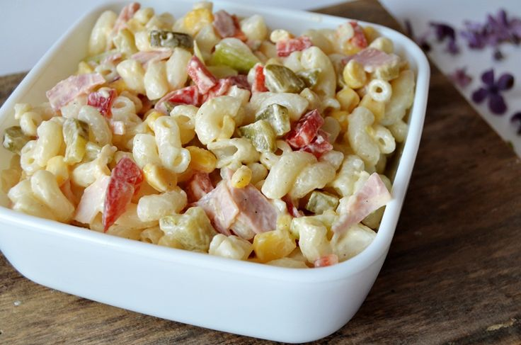 Reteta culinara Salata de paste cu maioneza din categoria Paste. Cum sa faci Salata de paste cu maioneza