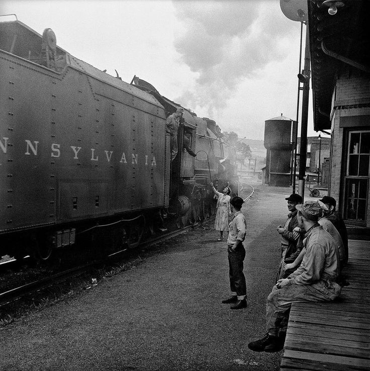 """Only two weeks remain to see """"The Call of Trains: Railroad Photographs by Jim Shaughnessy"""" at the Whitcomb Art Center at Knox College! Come see his dramatic telling of the steam-to-diesel transition and changing fortunes of the railroad industry represented in beautiful black and white photography. Don't miss it!"""