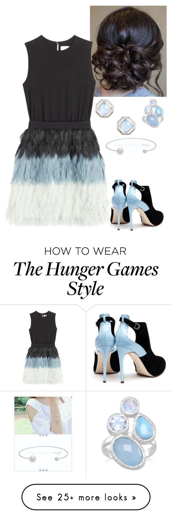 """""""Mirella At The HUnger Games Catching Fire 2013 Premiere"""" by misumi-moua on Polyvore featuring Victoria, Victoria Beckham, Rupert Sanderson and Judith Jack"""