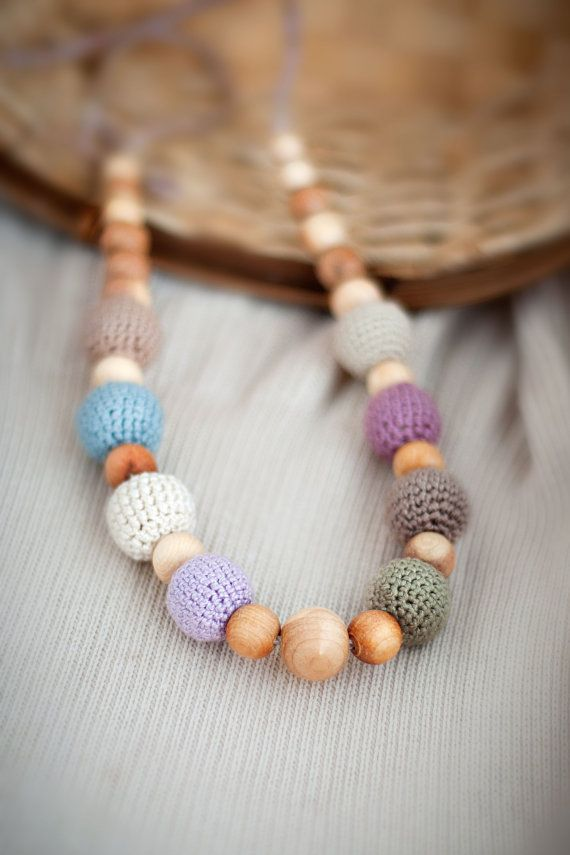 SALE - Earthy Simple nursing necklace / teething necklace / breastfeeding necklace on Etsy, $16.00