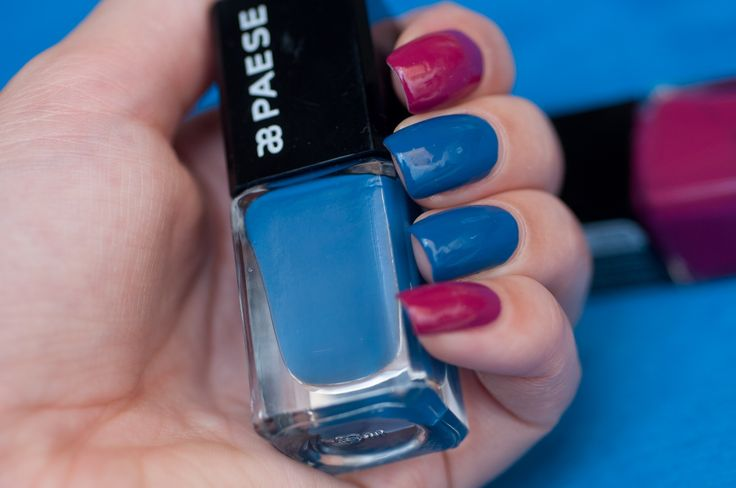Blue&Purple, odcienie 61 i 127 #nails #nailpolish #paese