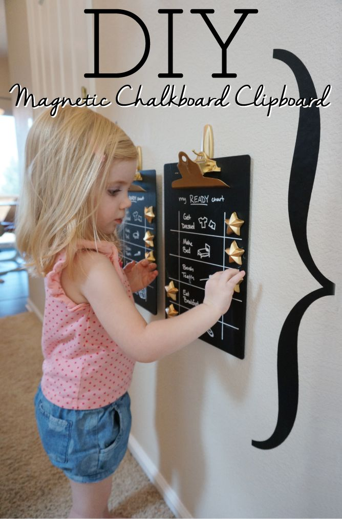 Make your own magnetic chalkboard clipboard with this step-by-step DIY tutorial.