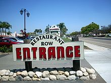 Restaurant Row a collection of 20 restaurants offering a wide range of cuisines.  San Marcos, California -