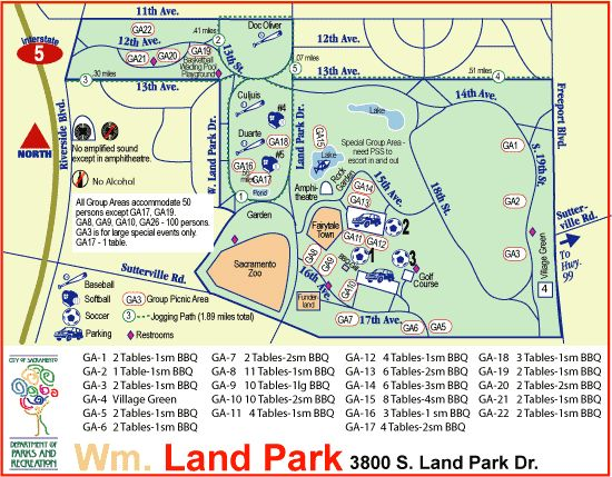 William Land Park Amenity Guide Fairytale Town