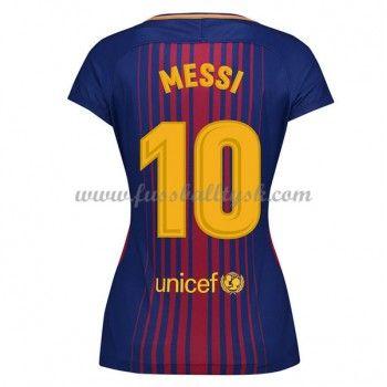 Günstige Barcelona Damen Fußballtrikots 2017-18 Lionel Messi 10 Heimtrikot Kurzarm