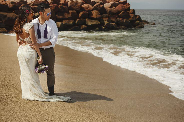 BRIDE: Rocío Margarita Juárez DRESS: Jade by Maggie Sottero WEDDING PLACE: Puerto Vallarta