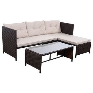 Shop for Costway 3 PCS Outdoor Rattan Furniture Sofa Set Lounge Chaise Cushioned Patio Garden New. Get free delivery at Overstock.com - Your Online Garden & Patio Shop! Get 5% in rewards with Club O! - 22737782