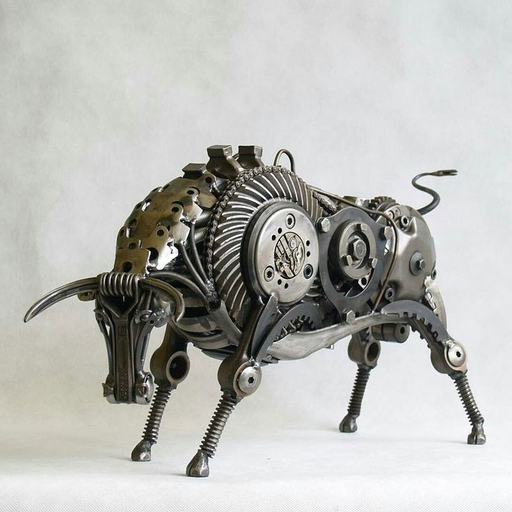 Best El Arte Del Reciclaje Images On Pinterest Plastic The - Artist creates incredible sculptures welding together old farming equipment