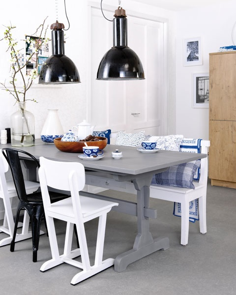 Our Chairs Table And Bench Used In A Campain For Svea Kitchens