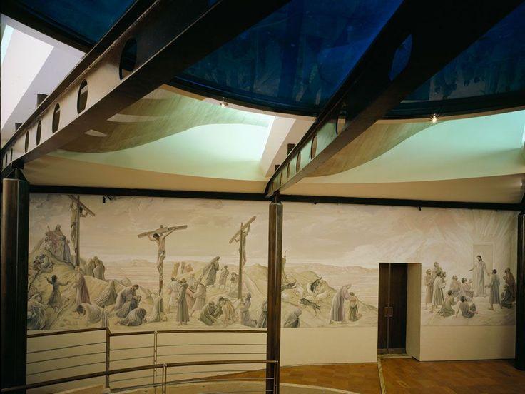 Siena (Italia) - Santuario Casa di Santa Caterina da Siena - Cappella delle Confessioni - Ezio Pollai - Crocifissione di Gesù - 2006