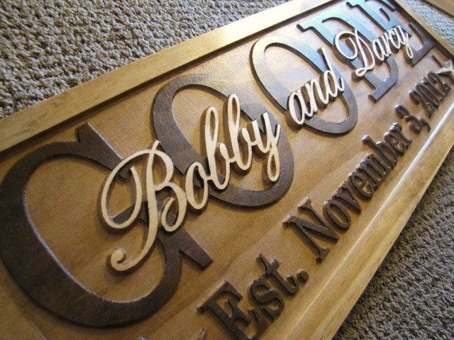 Personalized Carved Custom Wood Sign