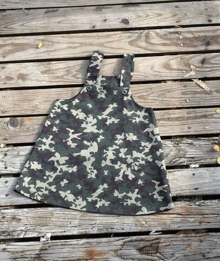 Butterfly camouflage Jumper Fall fully lined size 4 by ThreadsofGlory on Etsy