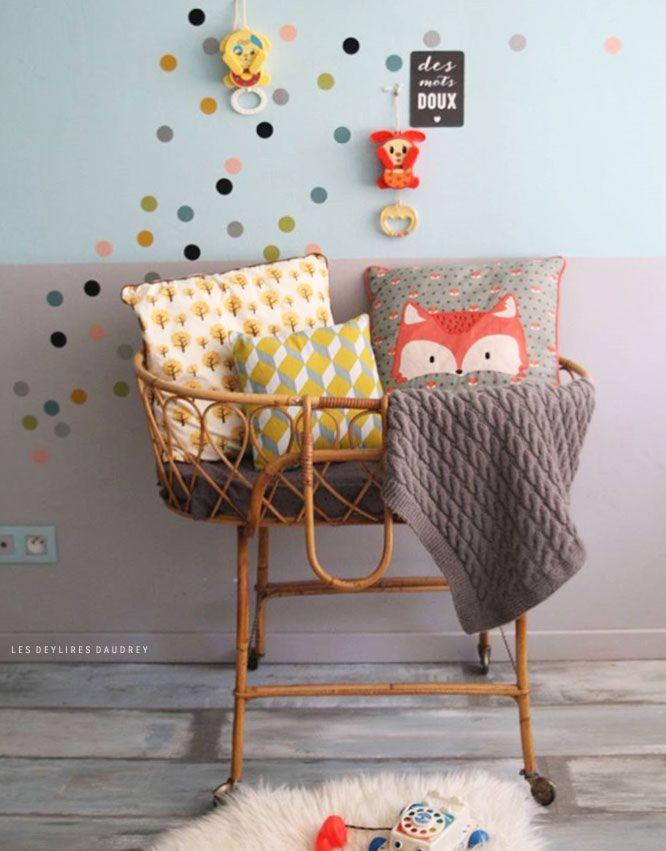 Idee kleine muurstickers | Les deylires daudrey | Kinderkamerstylist.nl