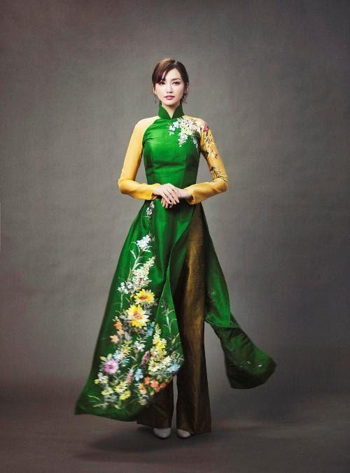 15 kiểu áo dài đẹp nhất xuân Bính Thân của sao Việt - 15