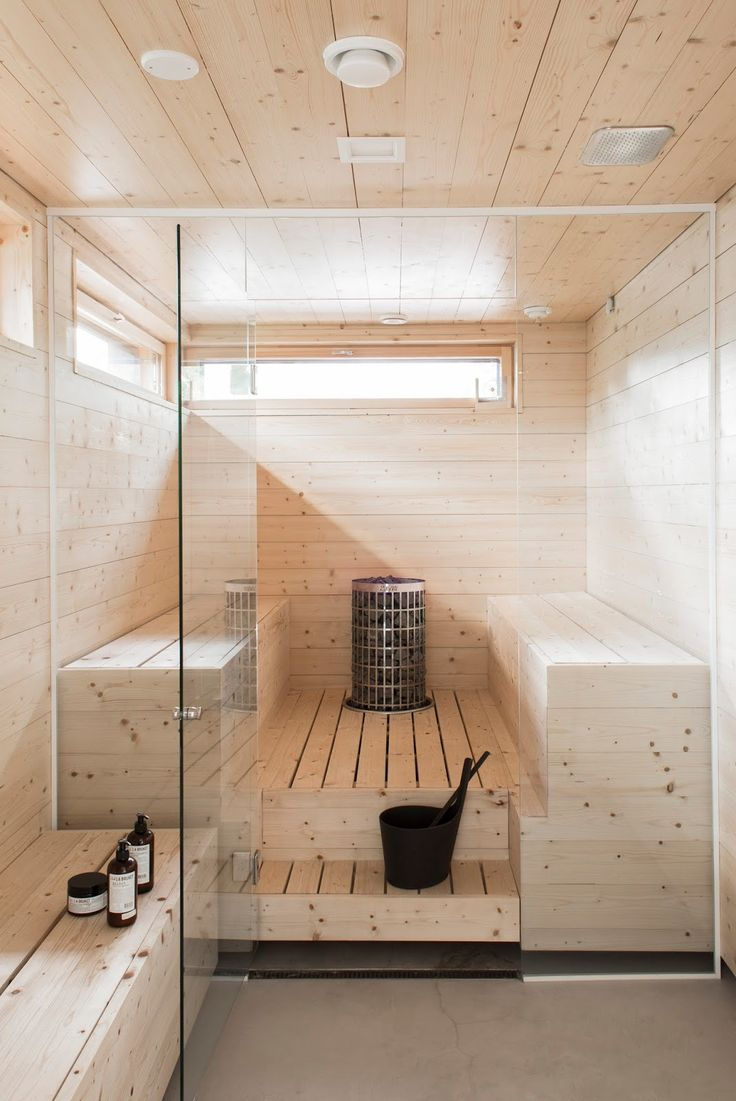 Glass sauna but simple