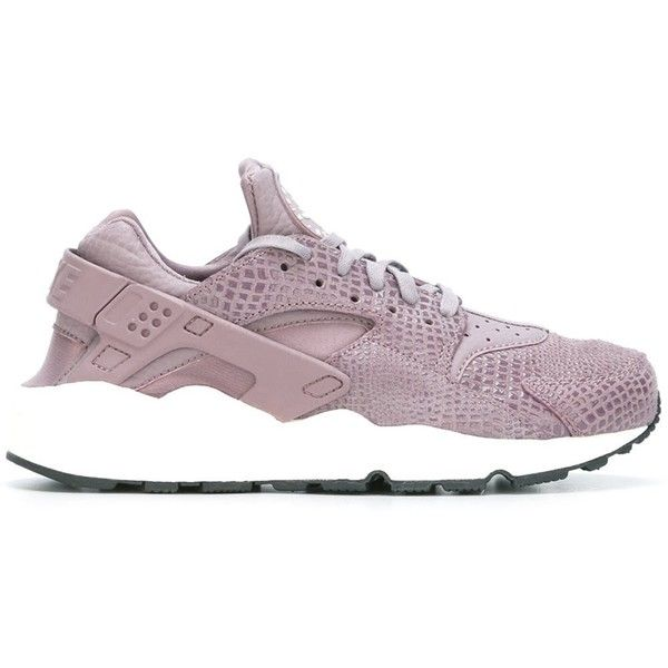 Nike 'Air Huarache Run Print' sneakers (175 CAD) ❤ liked on Polyvore featuring shoes, sneakers, purple shoes, nike trainers, leather lace up shoes, nike sneakers and genuine leather shoes