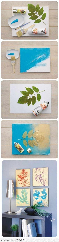 eenvoudige manier om prachtige decoraties te maken, een schilderij, maar ook om te tamponeren bv op hout, alle is mogelijk, ook leuk met kinderen te doen.