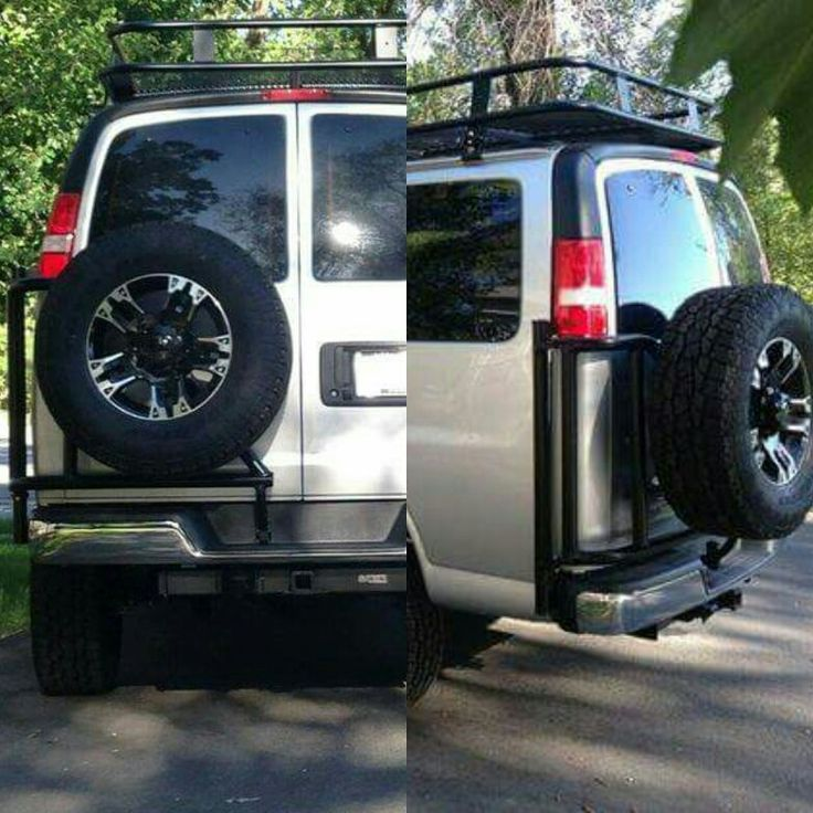 Aluminess Chevy tire rack Expedition vehicle, 4x4 van