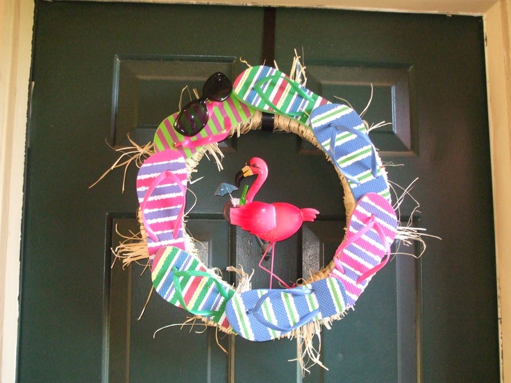 Flip-flop wreath for summer!