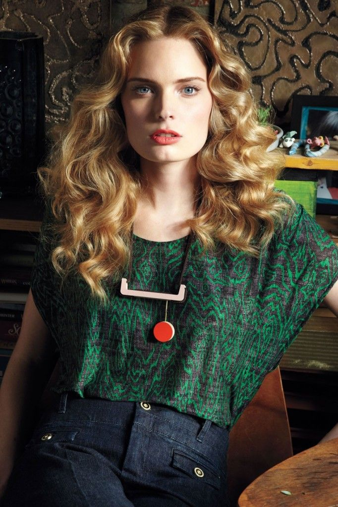 curlers: Grains Tee, Fashion, Anthropology, Style, Blouse, Necklaces, Clover Grains, Hair, Top