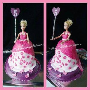 Barbie gâteau 3D
