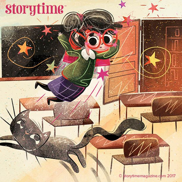 We'd love a pair of Spectacular Specs like this! A brilliant new story by Amanda Brandon and illustrated by @gensleranna - in Storytime Issue 37! ~ STORYTIMEMAGAZINE.COM