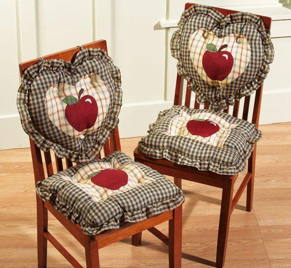 Cute chair for apple kitchen decor ideas