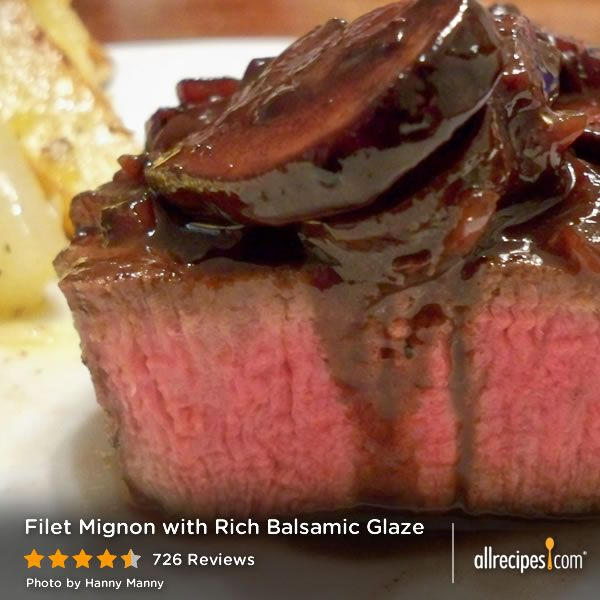 Filet Mignon With Rich Balsamic Glaze Recipes — Dishmaps