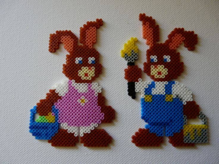 Easter bunnies from Hama inspiration mini 13