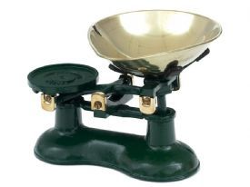 Victor Traditional Cast Iron Kitchen Scales in Green