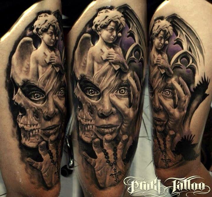 tatuaże religijne  #anioły #różaniec #tatuażewzory #tatuażeanioły