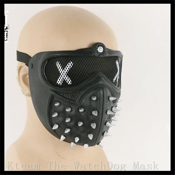 ==> [Free Shipping] Buy Best Hot New Games Watch Dogs 2 Cosplay Mask Watch Dogs wrench Mask PVC Fabric Type Adult Men Cosplay Prop Costume Half Helmet Online with LOWEST Price   32784675412