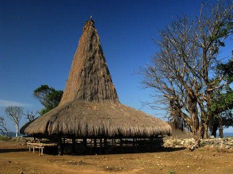 Casa tradicional de Sumba (Indonesia)