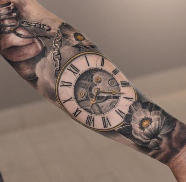 melted clock tattoo japannees - Google Search