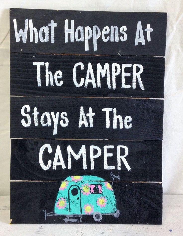 What Happens At Camper Stays At Camper Sign Pallet Wood Rv Tent Trimble Crafts