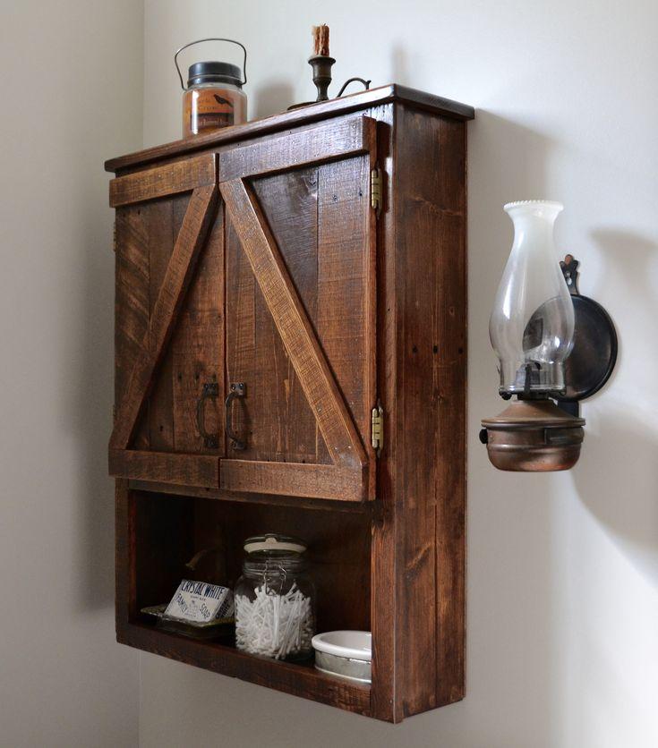Pallet wood medicine cabinet | Rustic medicine cabinets ...