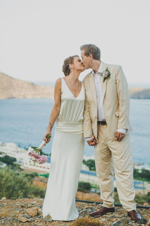 Backless wedding dress by Charlie Brear, wedding in Create, Destination wedding