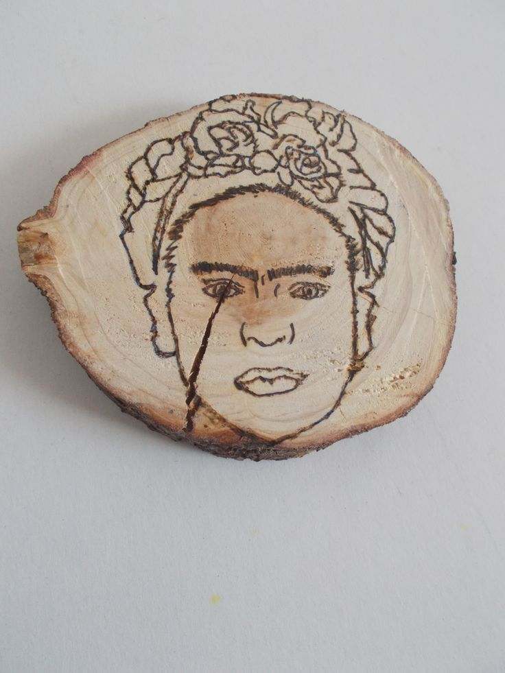 frida figure pyrography by mademeathens, #workinprogress, #frida, #pyrography