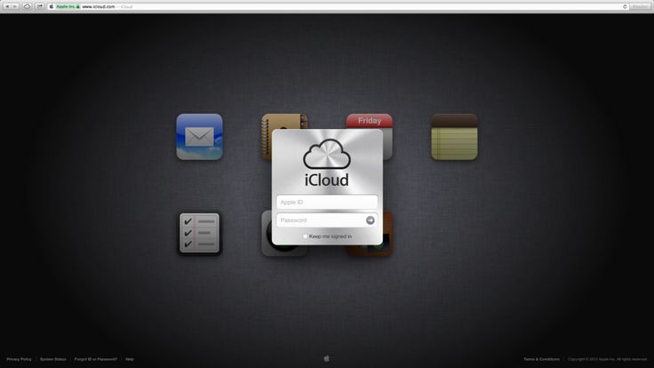 Logare icloud.com