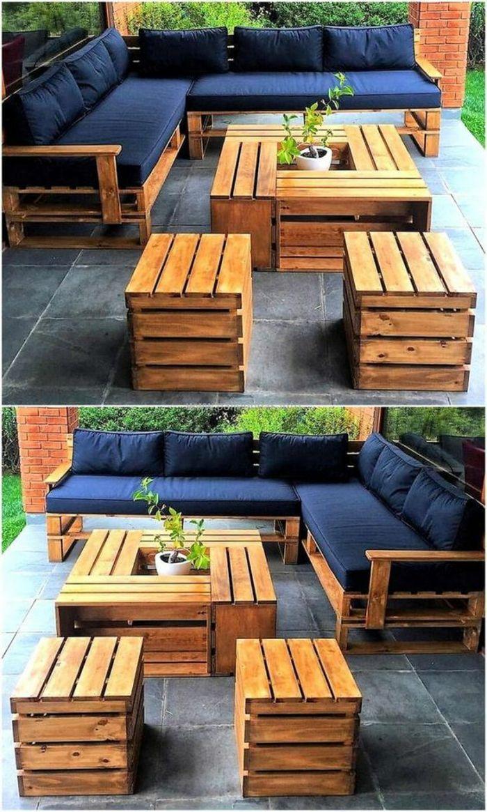 Gartenmöbel in Paletten, Sofa in Palette, Sessel …