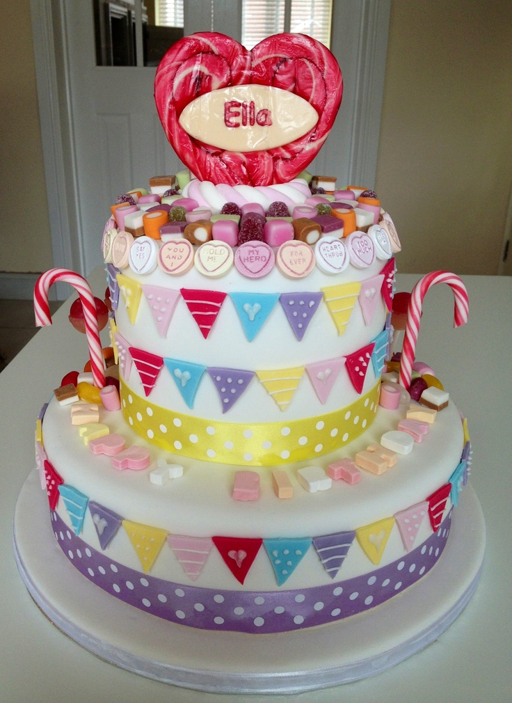 Candy Cake Retro Sweets Birthday Cake Cakes Pinterest