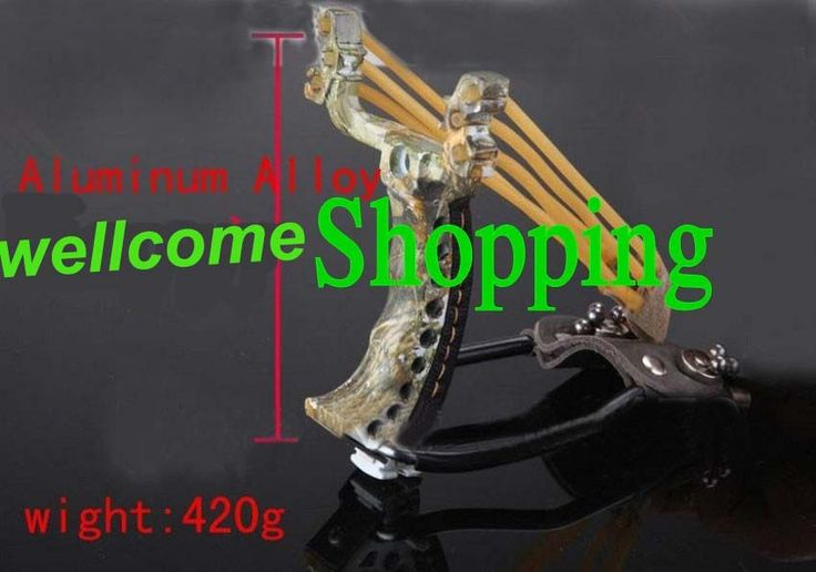 Aluminum Alloy camping Slingshot Catapult Hunter Wrist Support Sling Shot Outdoor Hunting catapult Free Shipping