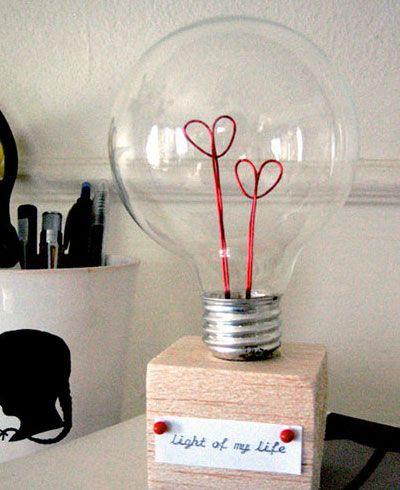 40+ DIY Valentine Gift Ideas for Boyfriend & Husbands - Valentine Lightbulb - DIY Valentines Gifts for Him