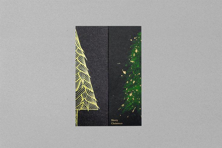 可親筆畫下聖誕樹另一半的卡片設計 | MyDesy 淘靈感