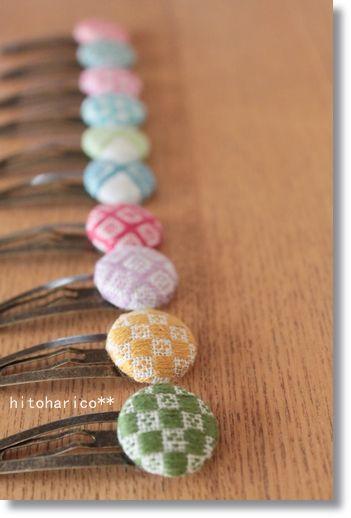 パッチンピン縦 kogin embroidery