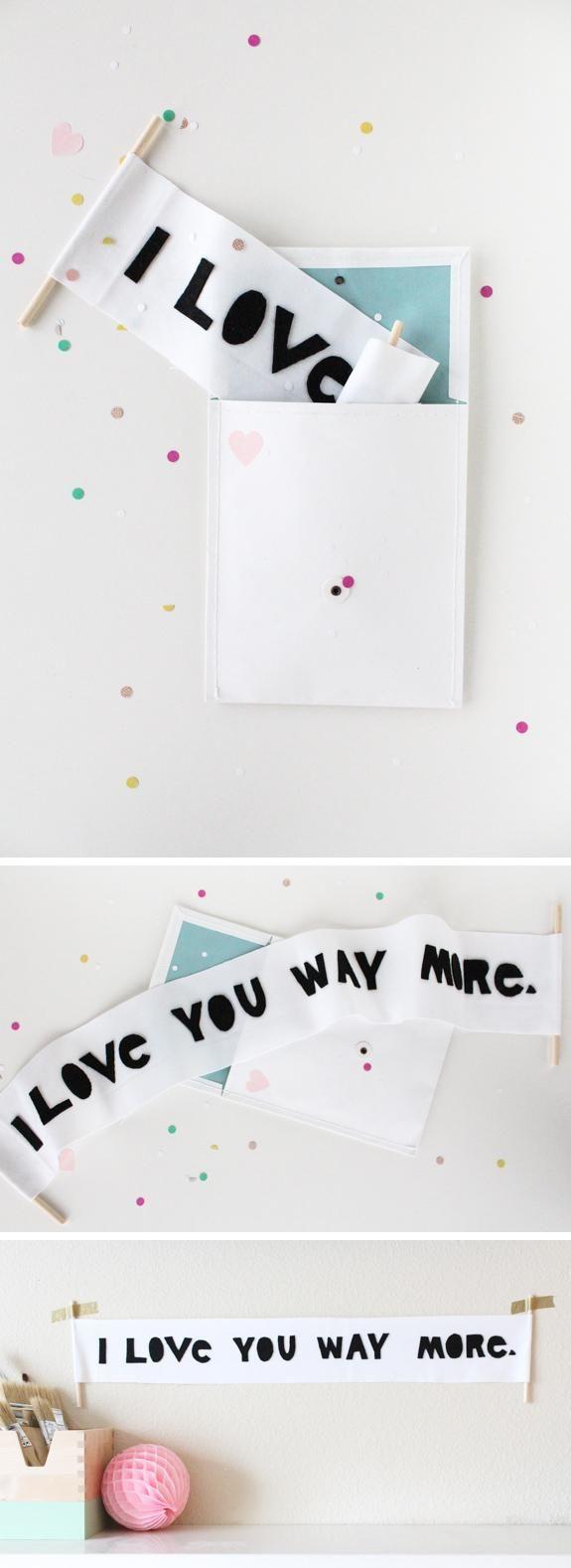 Valentine's Day letter scroll DIY
