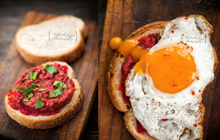 Spicy vegetarian sandwich with beetroot burger and fried egg photography
